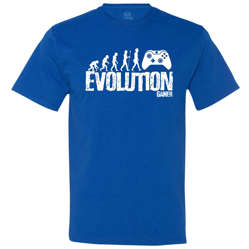 """Evolution of a Gamer"" men's t-shirt Royal-Blue"