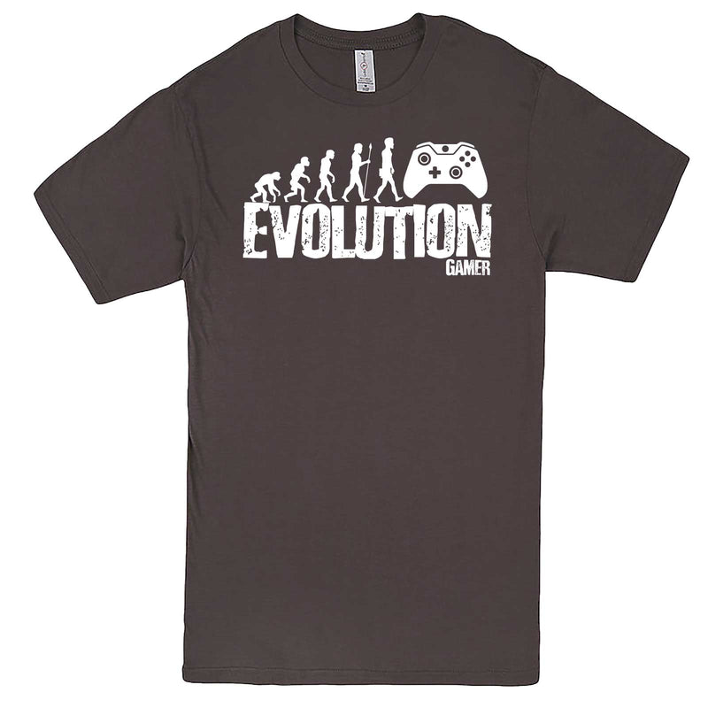 """Evolution of a Gamer"" men's t-shirt Charcoal"