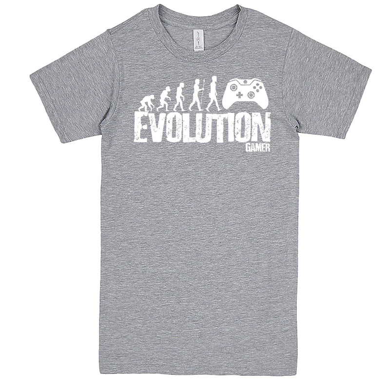 """Evolution of a Gamer"" men's t-shirt Heather-Grey"