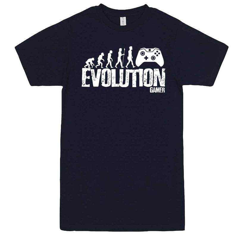 """Evolution of a Gamer"" men's t-shirt Navy-Blue"