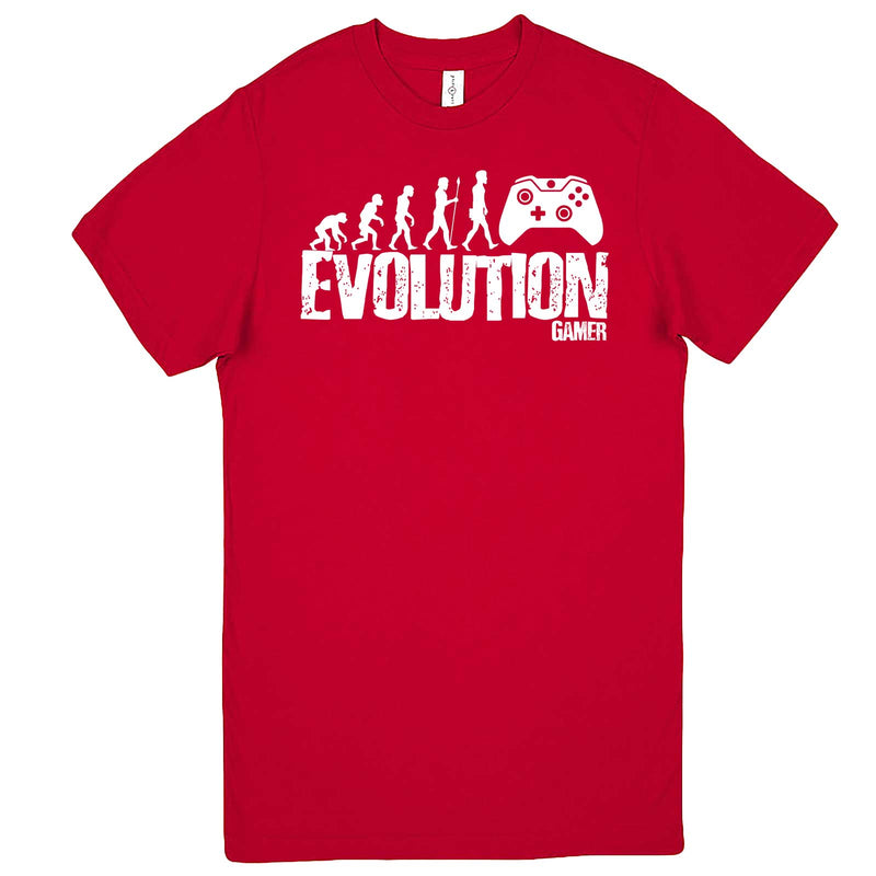 """Evolution of a Gamer"" men's t-shirt Red"