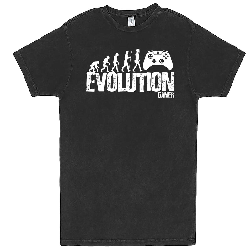 """Evolution of a Gamer"" men's t-shirt Vintage Black"