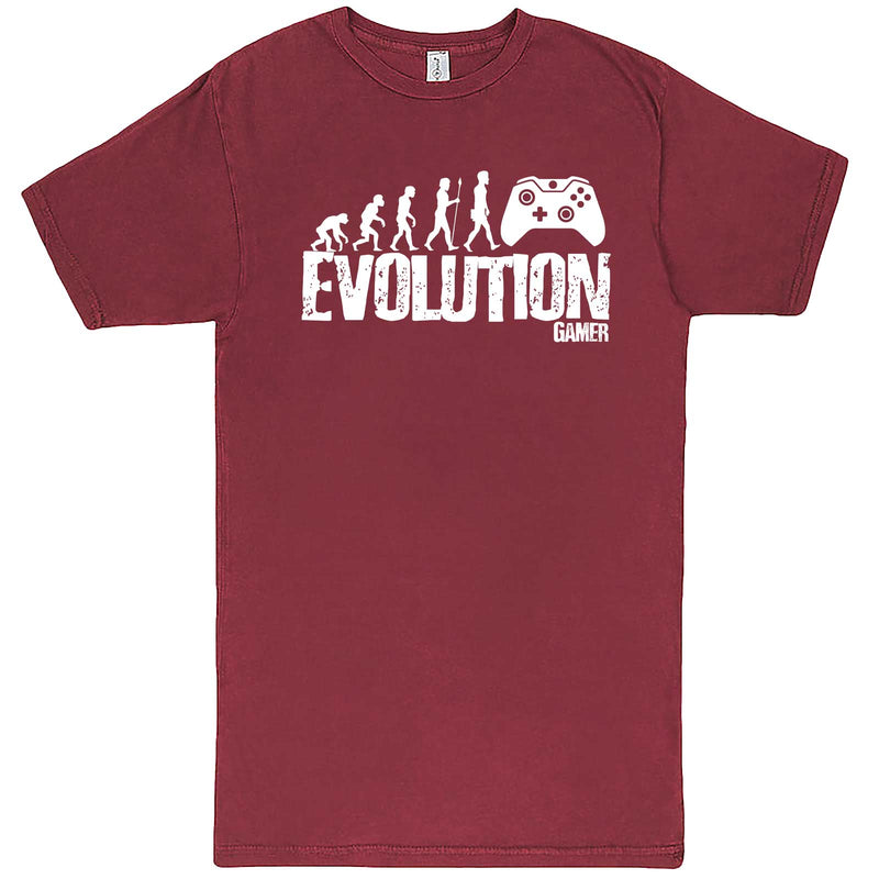 """Evolution of a Gamer"" men's t-shirt Vintage Brick"