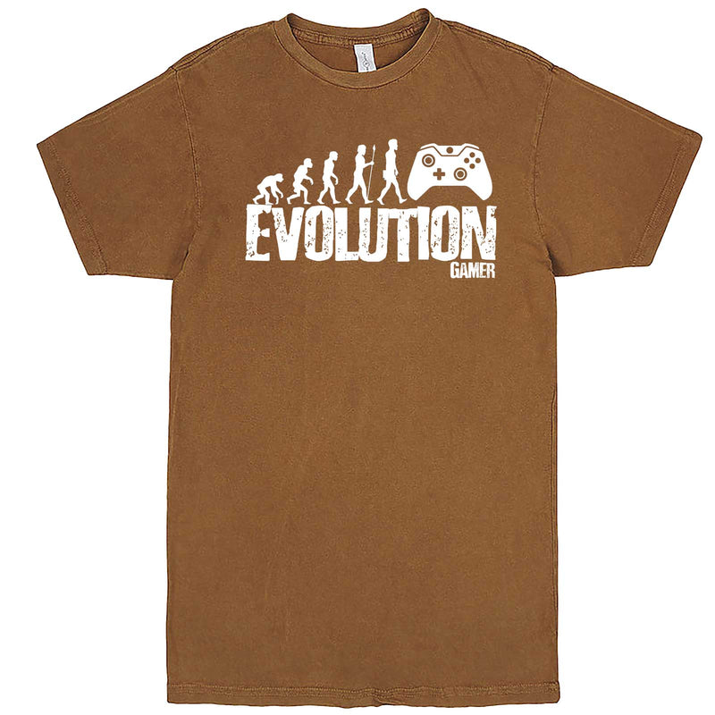 """Evolution of a Gamer"" men's t-shirt Vintage Camel"