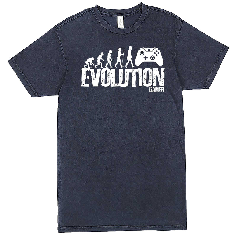 """Evolution of a Gamer"" men's t-shirt Vintage Denim"