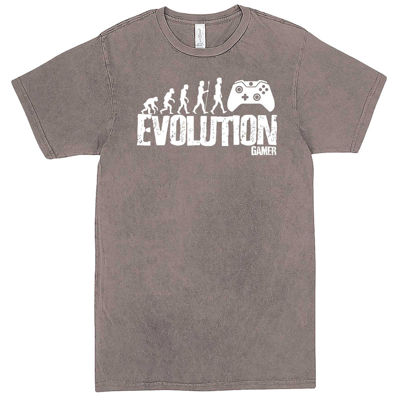 """Evolution of a Gamer"" men's t-shirt Vintage Zinc"