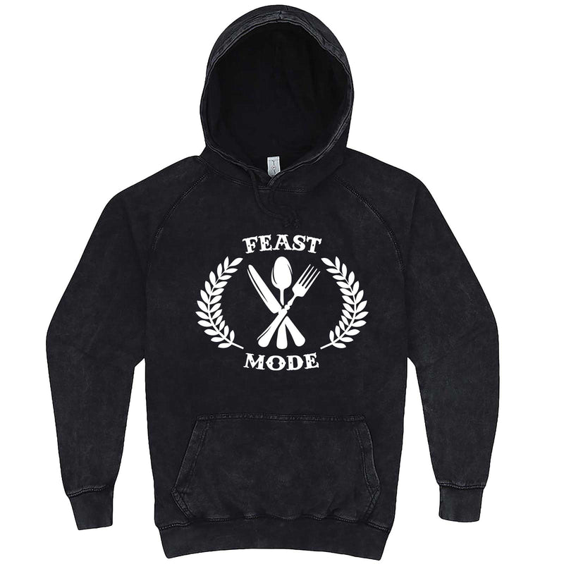 """Feast Mode for Thanksgiving"" hoodie, 3XL, Vintage Black"