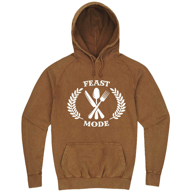 """Feast Mode for Thanksgiving"" hoodie, 3XL, Vintage Camel"