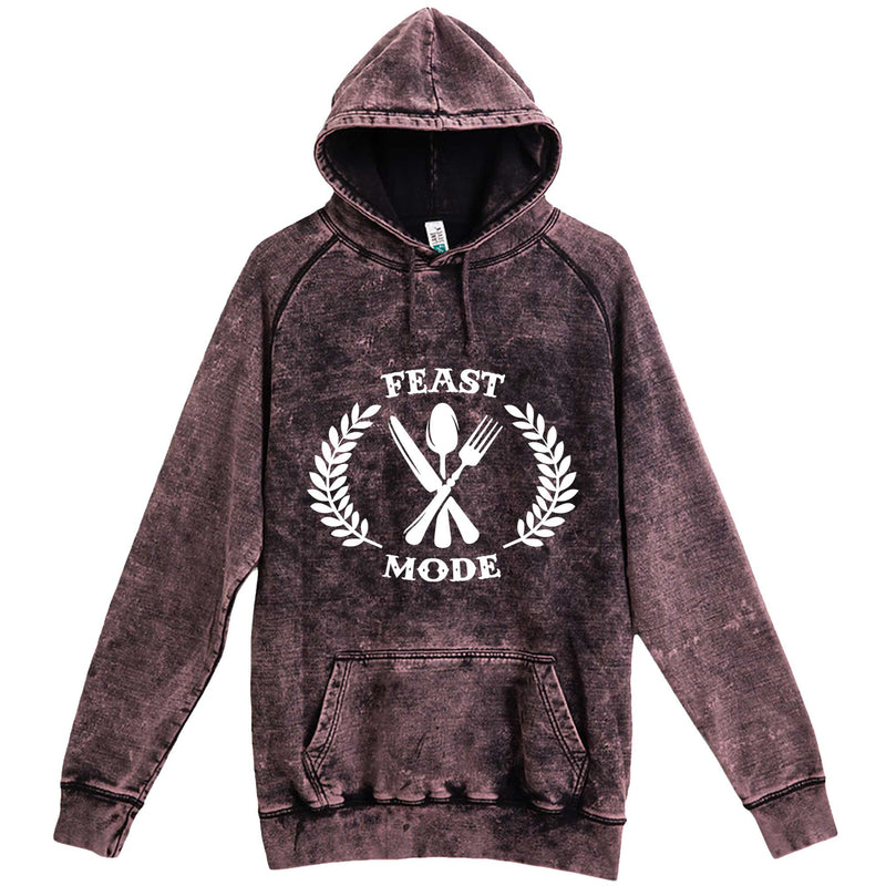 """Feast Mode for Thanksgiving"" hoodie, 3XL, Vintage Cloud Black"