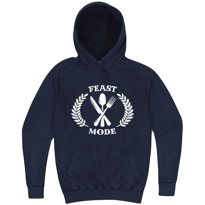 """Feast Mode for Thanksgiving"" hoodie, 3XL, Vintage Denim"