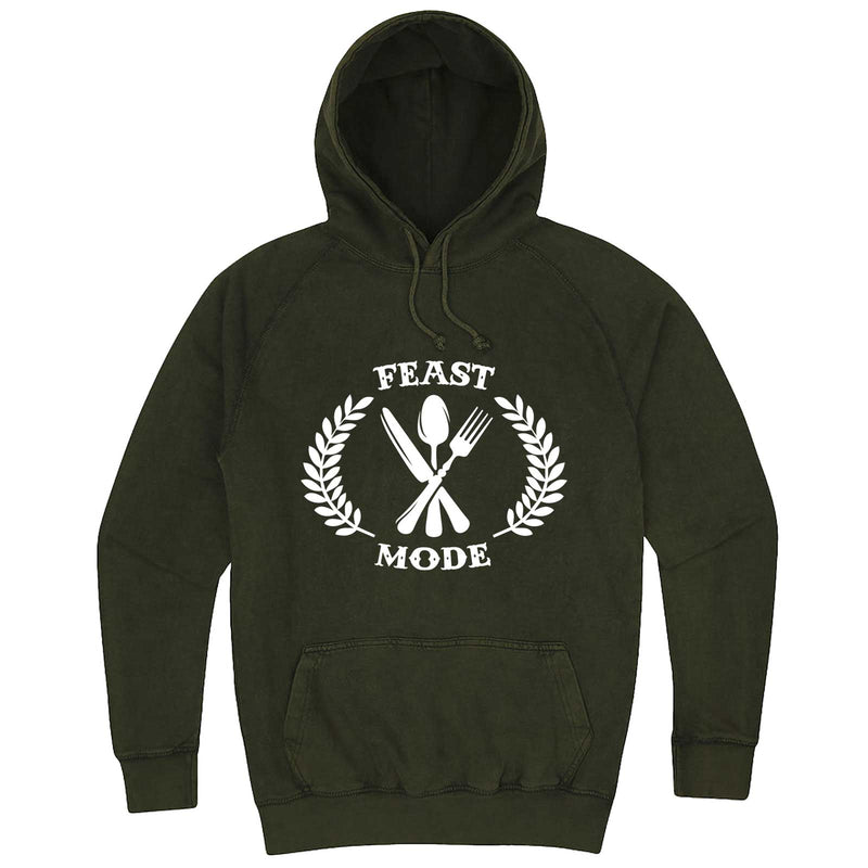 """Feast Mode for Thanksgiving"" hoodie, 3XL, Vintage Olive"