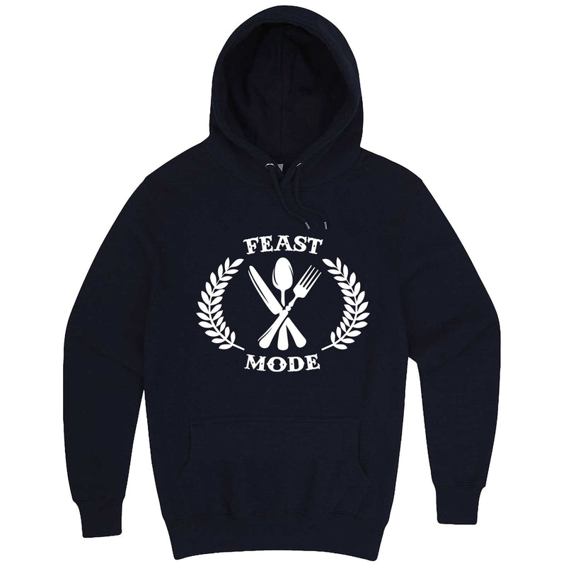 """Feast Mode for Thanksgiving"" hoodie, 3XL, Navy"