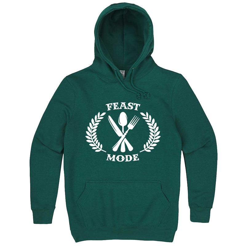 """Feast Mode for Thanksgiving"" hoodie, 3XL, Teal"