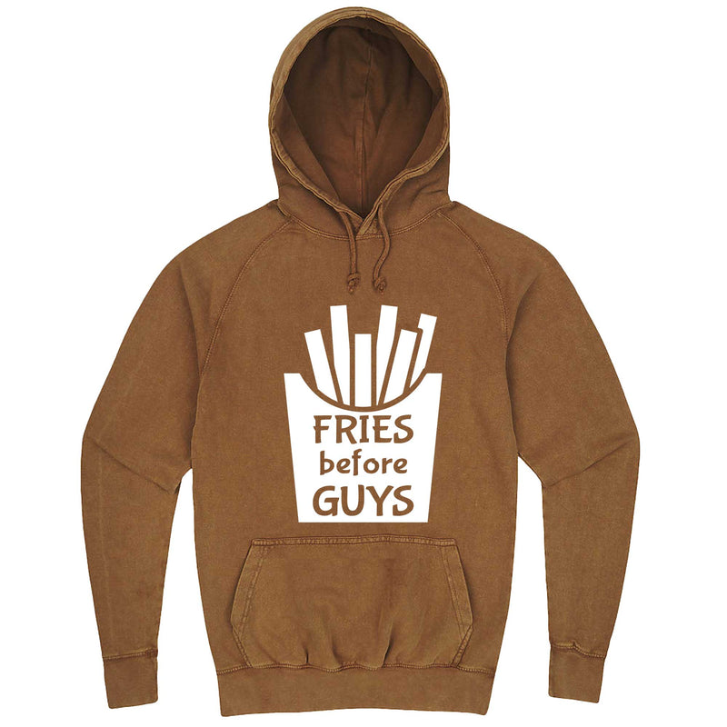"""Fries Before Guys"" hoodie, 3XL, Vintage Camel"