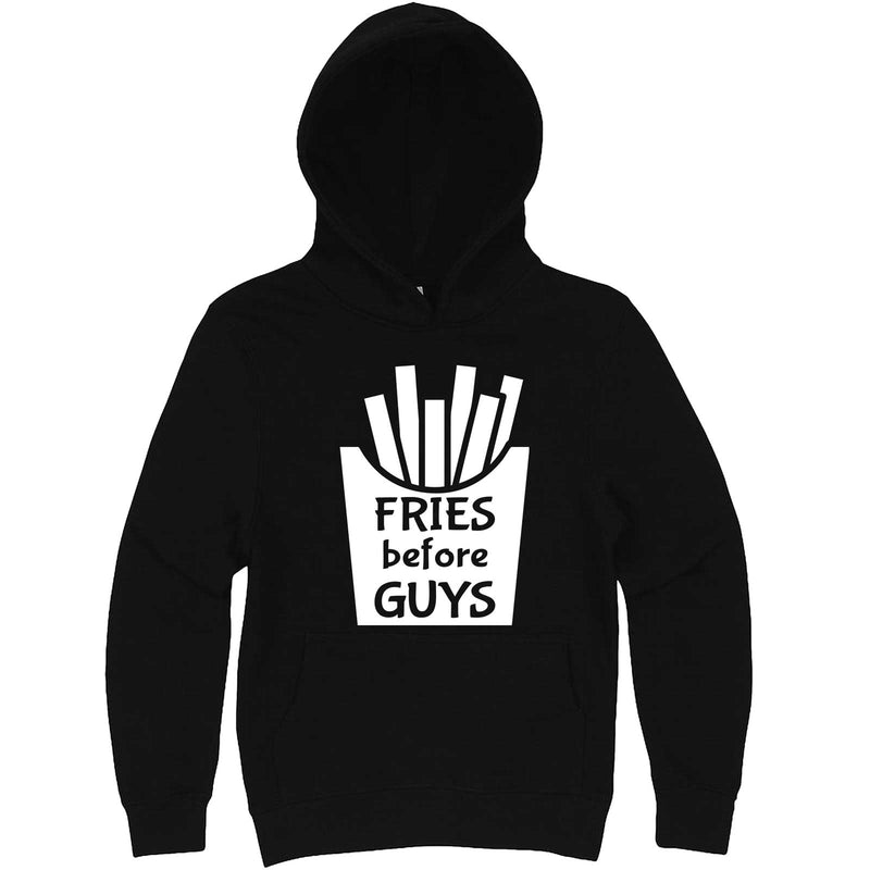 """Fries Before Guys"" hoodie, 3XL, Black"