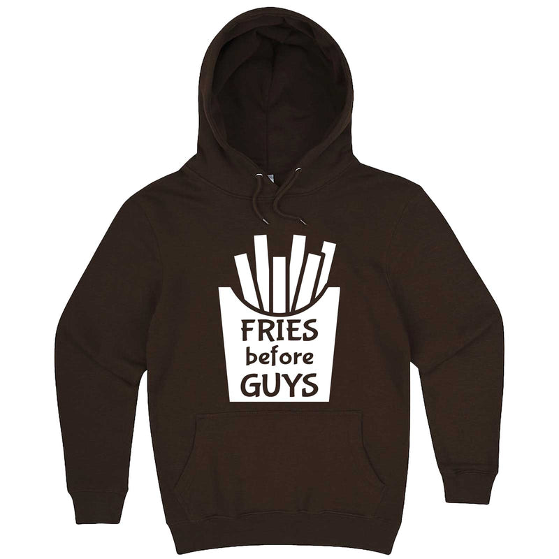 """Fries Before Guys"" hoodie, 3XL, Chestnut"