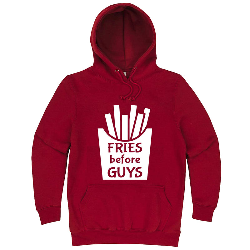 """Fries Before Guys"" hoodie, 3XL, Paprika"