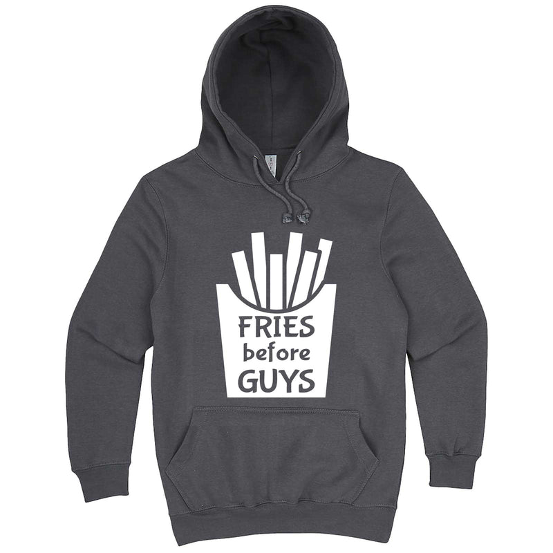 """Fries Before Guys"" hoodie, 3XL, Storm"
