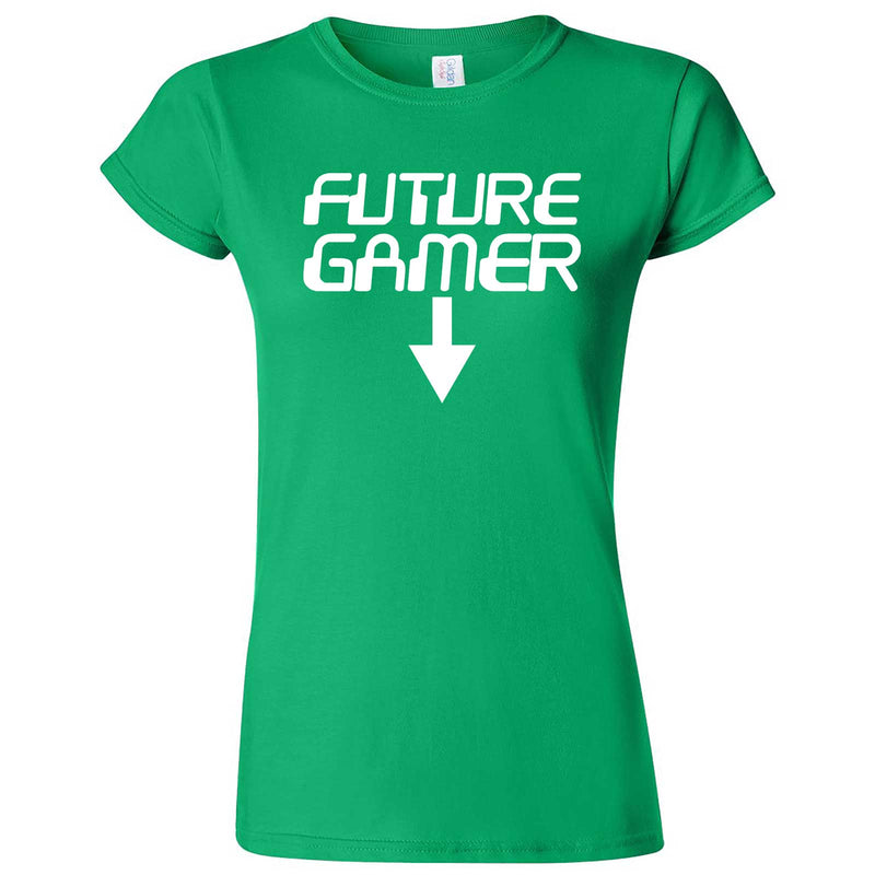 """Future Gamer"" women's t-shirt Irish Green"
