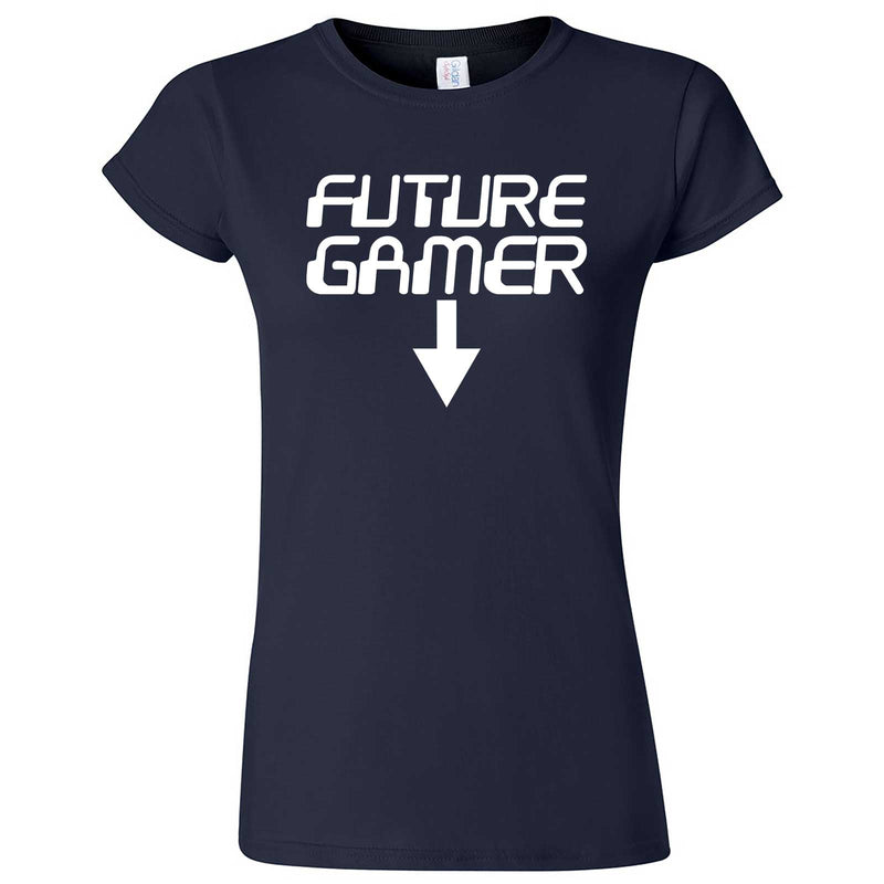"""Future Gamer"" women's t-shirt Navy Blue"
