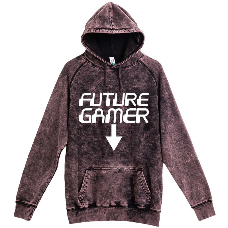 """Future Gamer"" hoodie, 3XL, Vintage Cloud Black"