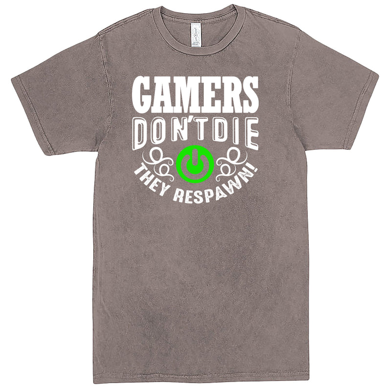 """Gamers Don't Die, They Respawn"" Men's Shirt Vintage Zinc"