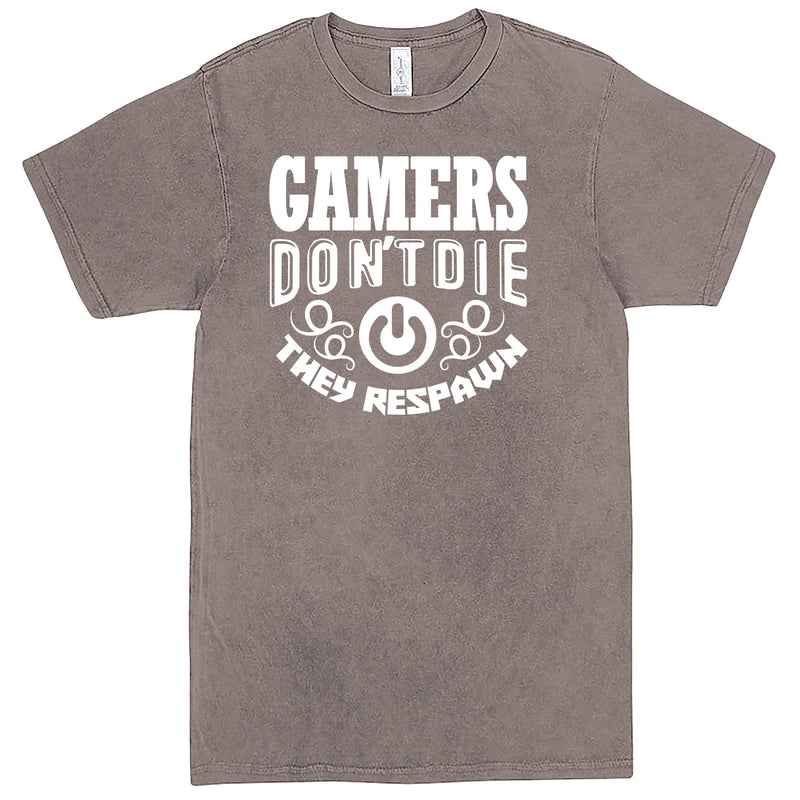 """Gamers Don't Die They Respawn"" Men's Shirt Vintage Zinc"