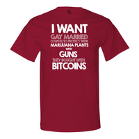 I Want Gay Married Couples To Protect Their MJ Plants With Guns T-shirt