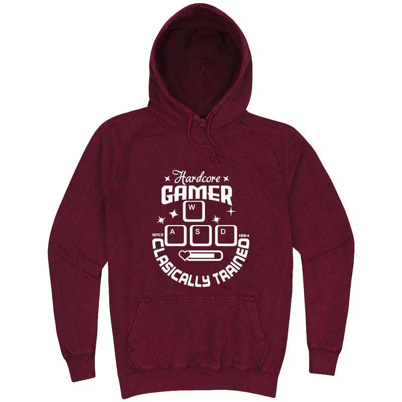 """Hardcore Gamer, Classically Trained"" hoodie, 3XL, Vintage Brick"