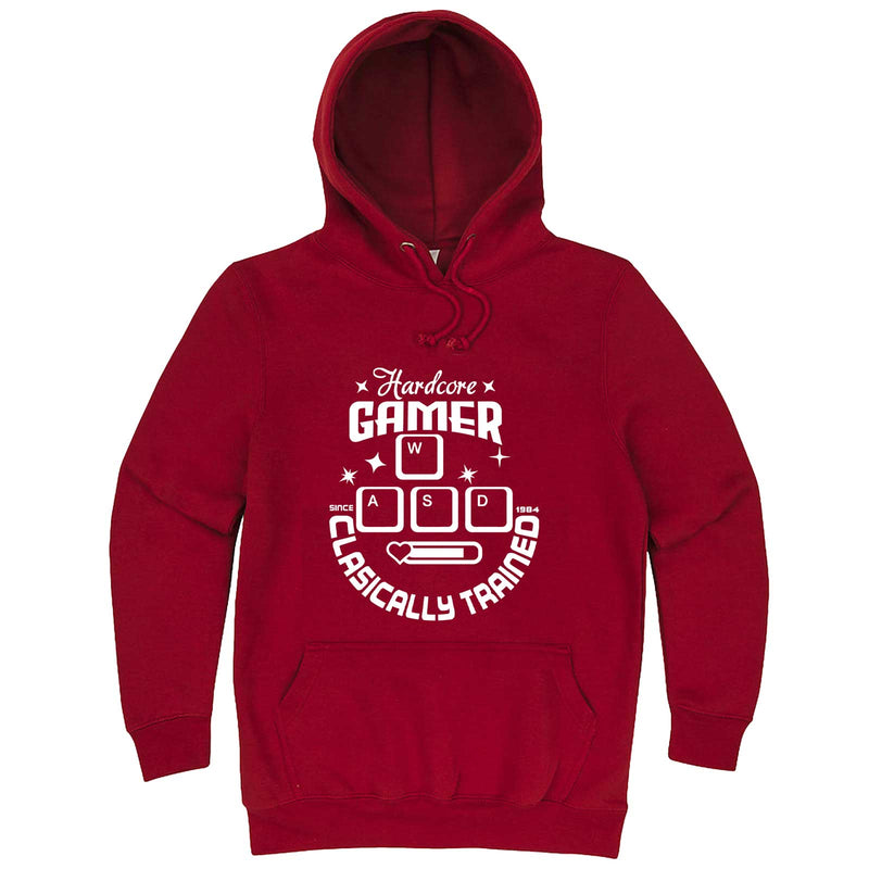 """Hardcore Gamer, Classically Trained"" hoodie, 3XL, Paprika"