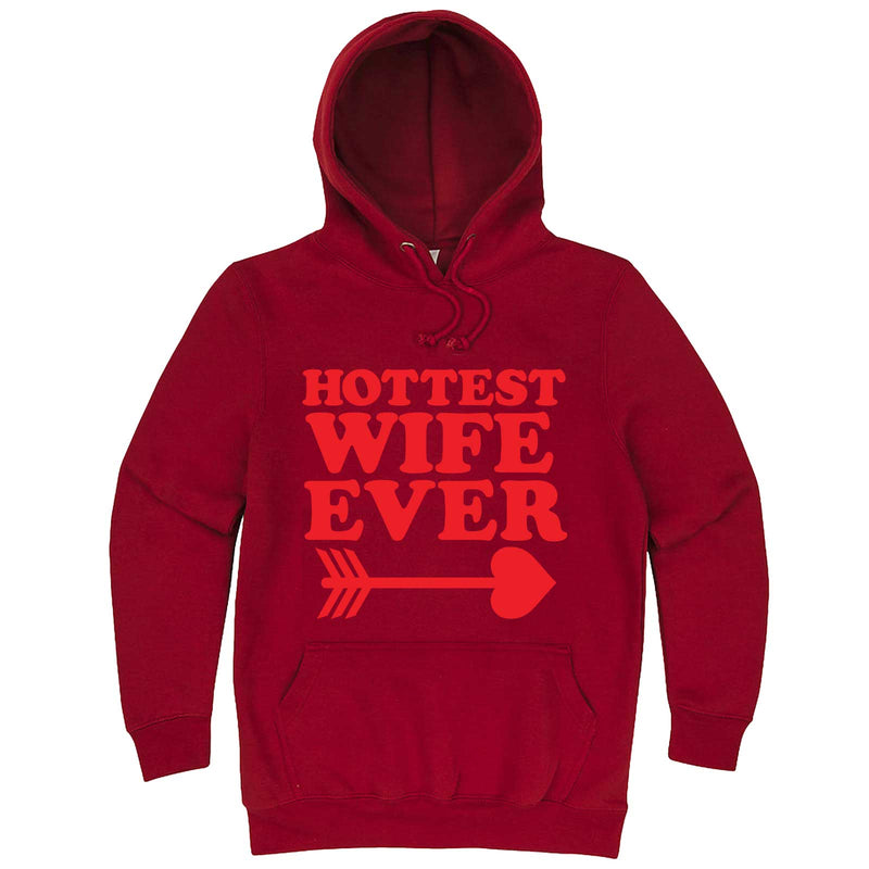 """Hottest Wife Ever, Red"" hoodie, 3XL, Paprika"