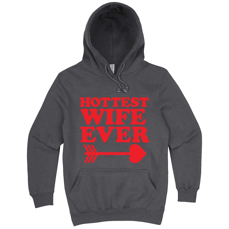 """Hottest Wife Ever, Red"" hoodie, 3XL, Storm"