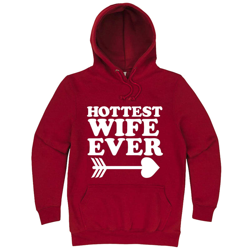 """Hottest Wife Ever, White"" hoodie, 3XL, Paprika"