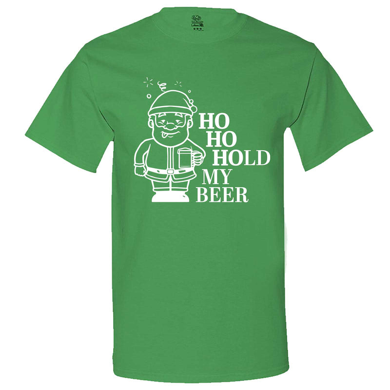 """Ho Ho Hold My Beer"" men's t-shirt Irish-Green"