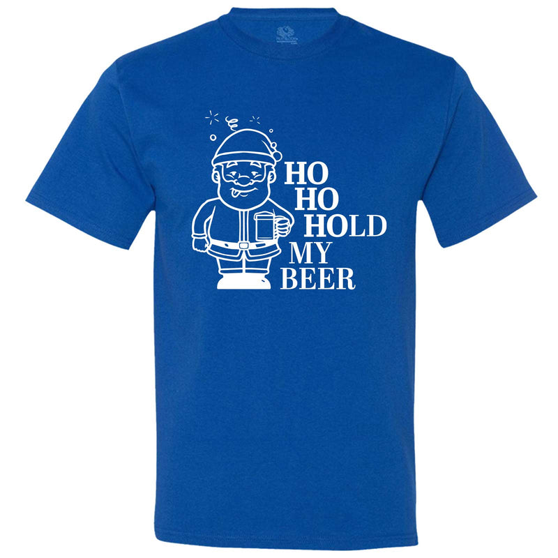 """Ho Ho Hold My Beer"" men's t-shirt Royal-Blue"