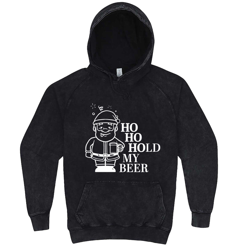 """Ho Ho Hold My Beer"" hoodie, 3XL, Vintage Black"