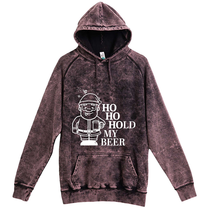 """Ho Ho Hold My Beer"" hoodie, 3XL, Vintage Cloud Black"