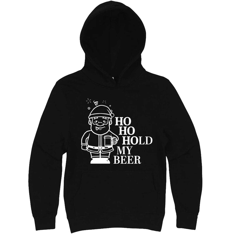 """Ho Ho Hold My Beer"" hoodie, 3XL, Black"