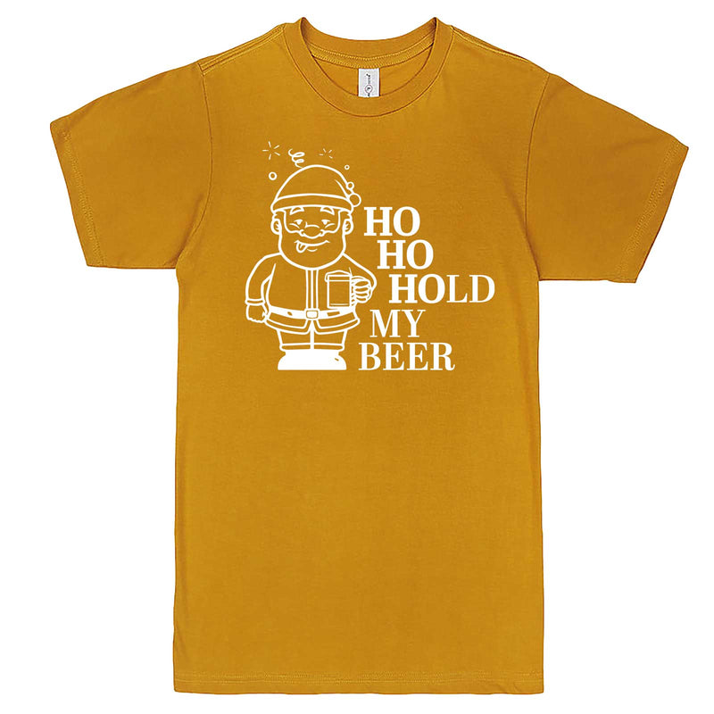 """Ho Ho Hold My Beer"" men's t-shirt Mustard"