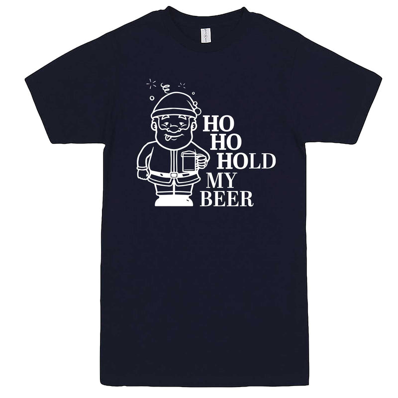 """Ho Ho Hold My Beer"" men's t-shirt Navy-Blue"