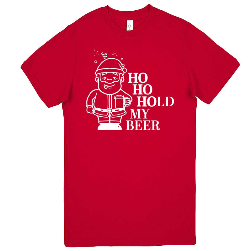 """Ho Ho Hold My Beer"" men's t-shirt Red"