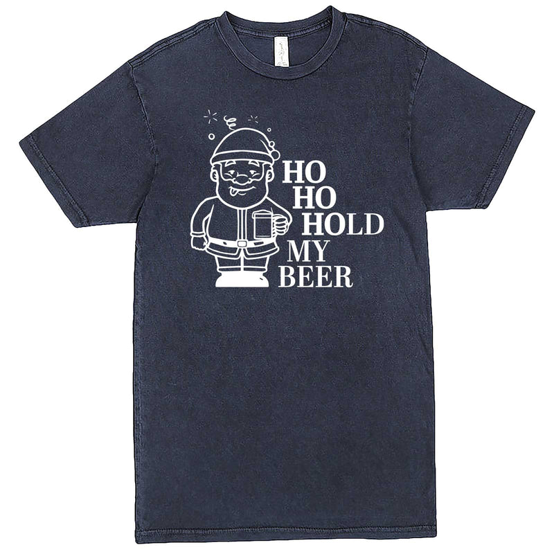 """Ho Ho Hold My Beer"" men's t-shirt Vintage Denim"