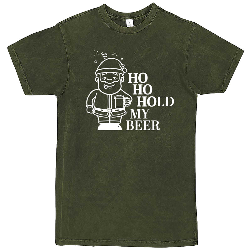 """Ho Ho Hold My Beer"" men's t-shirt Vintage Olive"