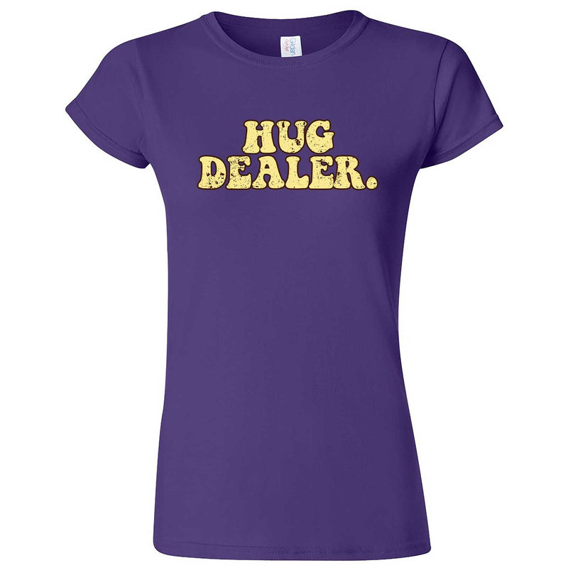 """Hug Dealer"" women's t-shirt Purple"