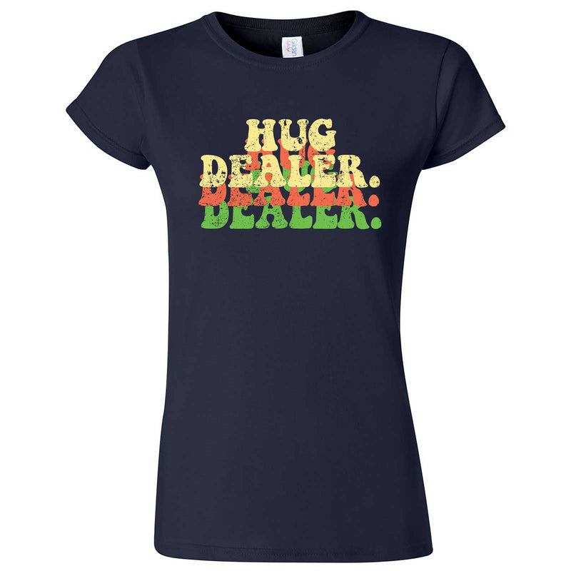 """Multiple Hug Dealer"" women's t-shirt Navy Blue"