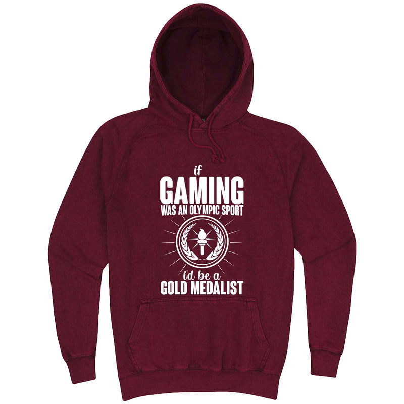 """If Gaming Were an Olympic Sport, I'd Be a Gold Medalist"" hoodie, 3XL, Vintage Brick"