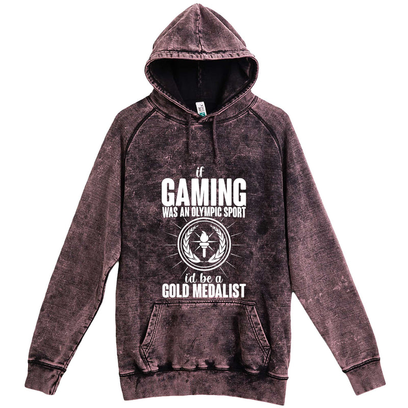"""If Gaming Were an Olympic Sport, I'd Be a Gold Medalist"" hoodie, 3XL, Vintage Cloud Black"