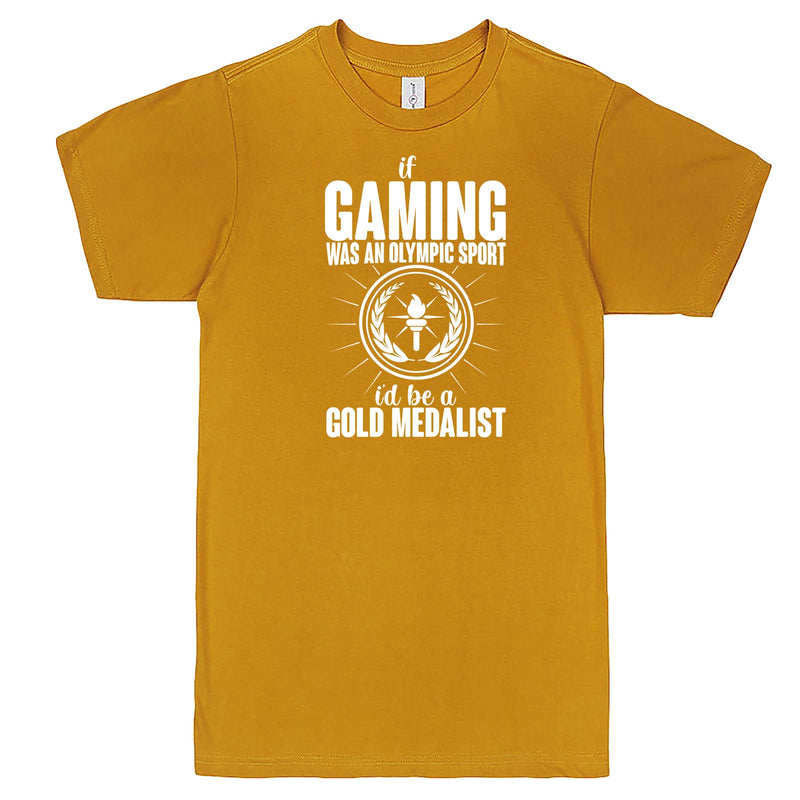 """If Gaming Were an Olympic Sport, I'd Be a Gold Medalist"" men's t-shirt Mustard"