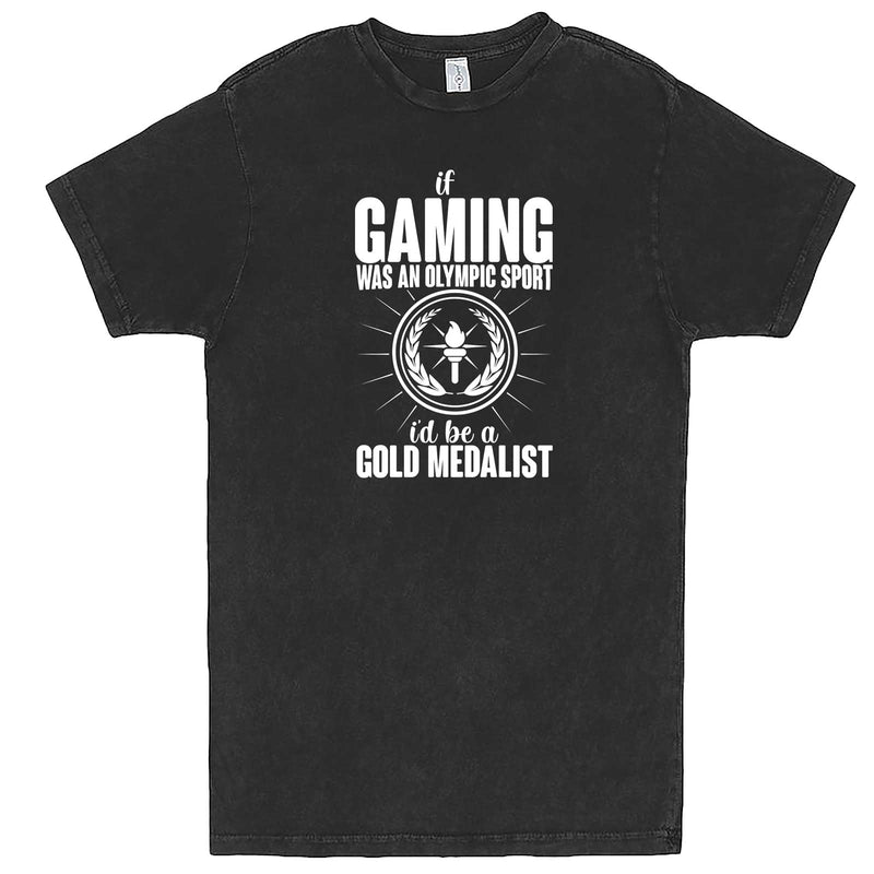 """If Gaming Were an Olympic Sport, I'd Be a Gold Medalist"" men's t-shirt Vintage Black"