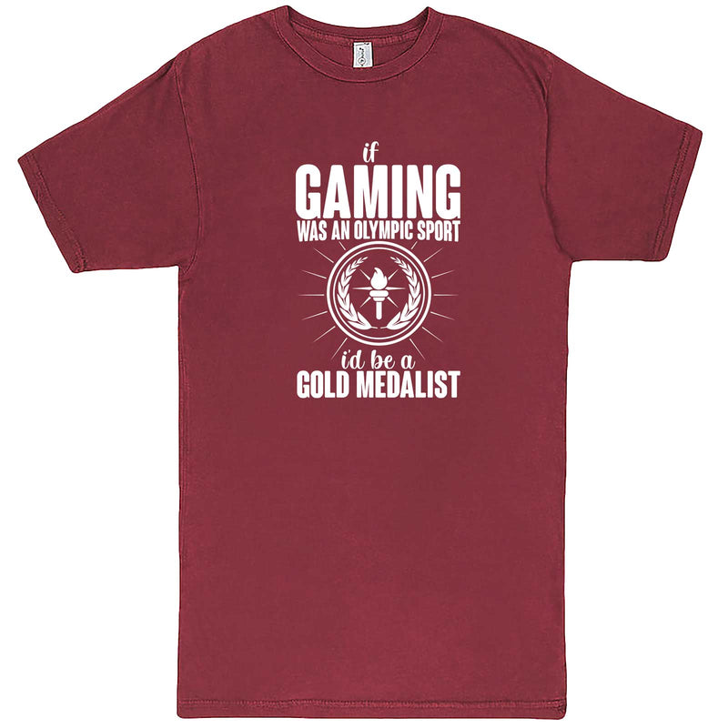 """If Gaming Were an Olympic Sport, I'd Be a Gold Medalist"" men's t-shirt Vintage Brick"